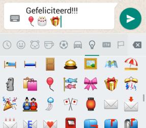 whatsapp felicitatie emoticons