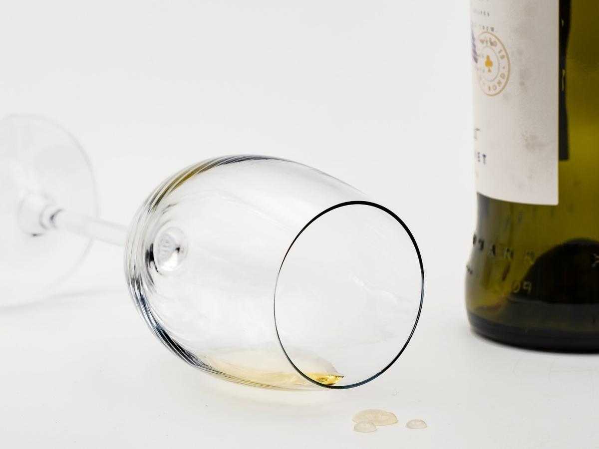 Het glas is leeg
